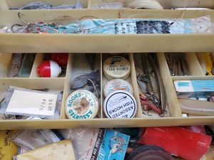 Box filled with vintage fishing stuff for Sale in Pembroke Pines, FL