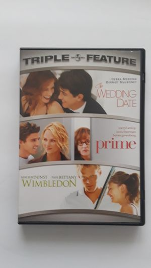 "DVD'S -""3"" MOVIES/The Wedding Date, Prime & Wimbledon for Sale in Lauderhill, FL"