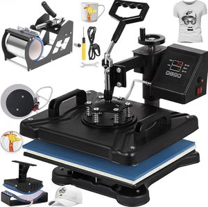 NEW-Heat Press 15x12 Inch Heat Press Machine 5 in 1 Digital Multifunctional Sublimation Heat Presser for T Shirts Hat Mug for Sale in Colton, CA