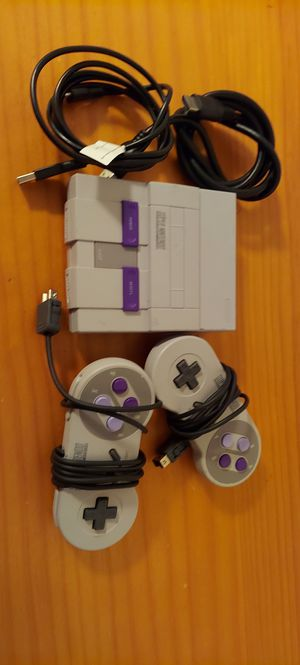 SNES Super Nintendo Classic Edition Mini CLV-201 Entertainment System 21 Games for Sale in Miami, FL