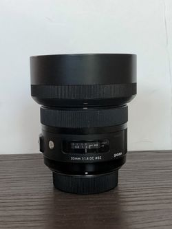 Sigma 30mm f/1.4 DC HSM Art Lens for Nikon F for Sale in Phoenix,  AZ