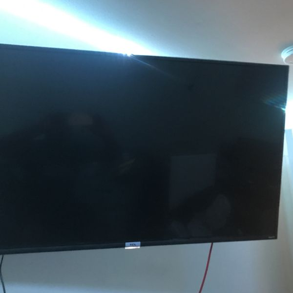 50 inch TCL Roku TV with Wall Mount