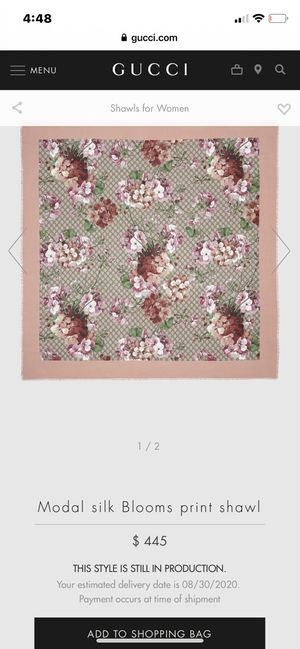 Gucci Modal silk Blooms print shawl for Sale in West Palm Beach, FL