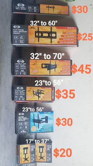 Lcd-led Tv Mounts New In Box Staring At $20 And Up for Sale in Downey, CA