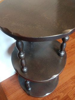 Metallic 3 Tier Solid Wood Side/Accent Table for Sale in Bonney Lake,  WA