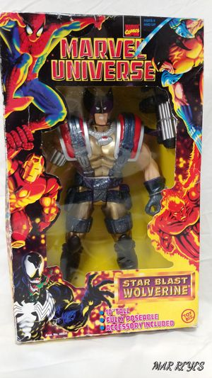 "MARVEL UNIVERSE ""STAR BLAST WOLVERINE"" fully poseable 10 inch figure by Toy Biz for Sale in Queens, NY"