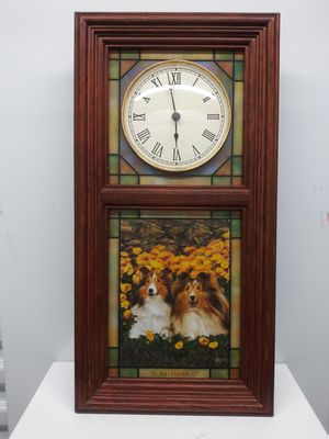 The Sheltie Stained Glass Clock for Sale in Grayson, GA