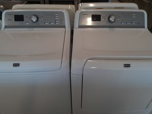 Maytag tap load washer and electric dryer good condition 90 days warranty for Sale in Mount Rainier, MD