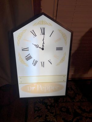 Rare! Dr. Pepper Steeple Style Advertising Clock for Sale in Buda, TX