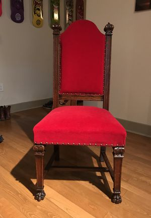 Antique hardwood chair (I have 4 available) for Sale in San Diego, CA