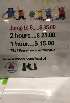 Discounted Velocity Air Sports Tickets . Original prices Shown . Name your price for Sale in Jacksonville, FL