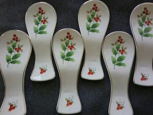 Royal Norfolk spoon rests. Most never used. Take what you want. 2.00 each or all 6 for 10.00. for Sale in Tacoma, WA