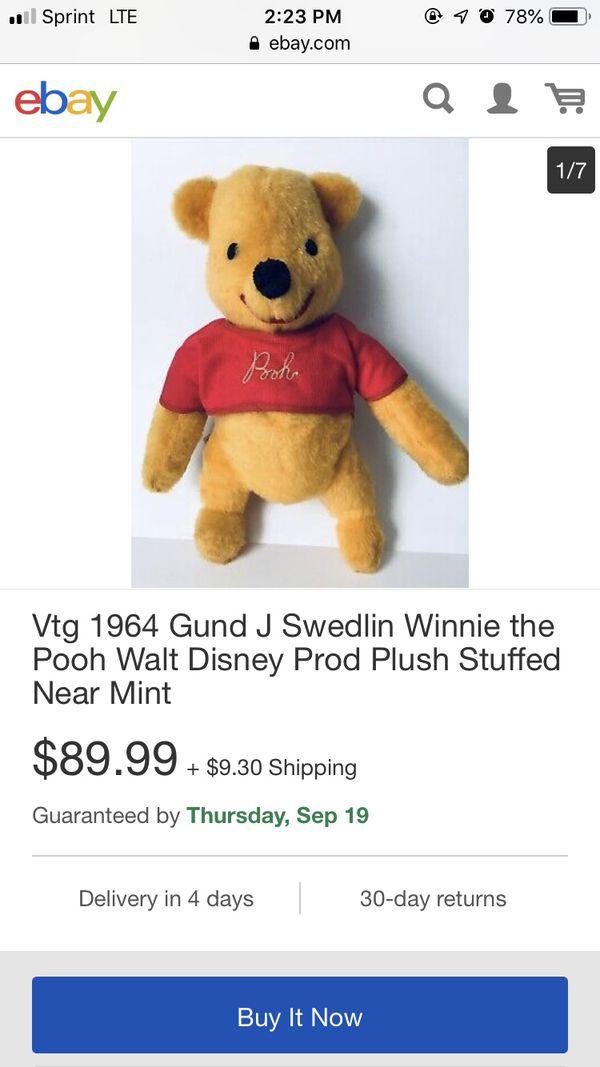 Winnie the Pooh stuffed bear