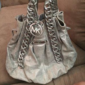 Michael Kors rare metallic bag authentic heavy for Sale in Miami, FL