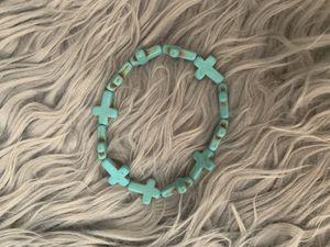Aqua Cross Bracelet for Sale in Fontana, CA