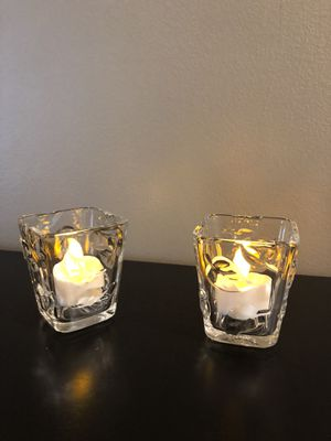 Autumn glass votive holder set for Sale in Brook Park, OH