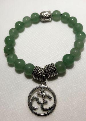 Green Aventurine Jewelry Gemstone Bracelet Healing Stone Beaded Bracelet - Ohm Charm - Om - Yoga - Meditation Tibetan Yoga Bracelet for Sale in Lake Mary, FL