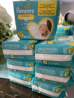 Pampers swaddlers baby diapers 20 pack x 7 for Sale in Los Angeles, CA