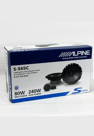 """Alpine Car Speakers 6-1/2"""" 2-Way 80W RMS Full Range Coaxial Speakers Coax NEW for Sale in Palos Hills, IL"""