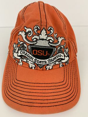NCAA OSU Oregon State Beavers Orange Hat Cap Buckle Back for Sale in Renton, WA