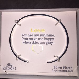 Silver Plated Inspirational Band Bracelet New for Sale in Clearwater, FL