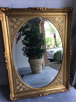 """$150 Large Elegant Wall Mirror. 50 by 38"""" for Sale in Pompano Beach, FL"""