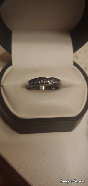 Blk .925 Sterling Silver And White Sapphire Ladies Ring for Sale in Amarillo, TX