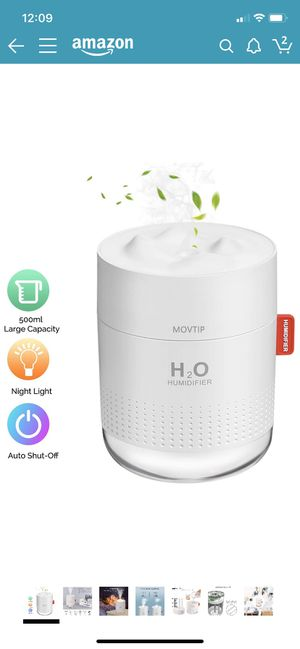 500ml Portable humidifier with night lights and auto shut off for Sale in Bellevue, WA