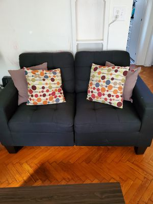 Black couches. 2pc for Sale in Long Beach, CA