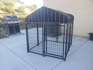 Dog kennel/outdoor dog kennel/looks great/assembled/cage/dog/dog resort kennel for Sale in Winchester, CA