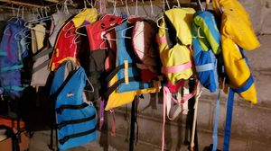 Boating supplies. Over 50 lifejackets for sale. Babies to adults. Also all kinds of boating supplies. Throw cushions. Anchors rooes bumper buoys . for Sale in Cumming, GA