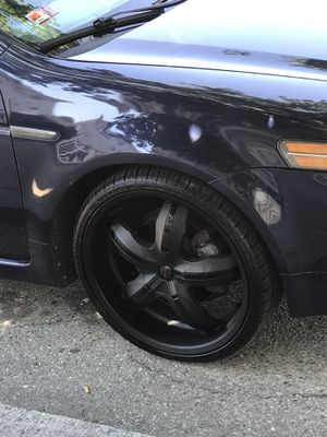 "20"" Black web RIMS 5 lug. 97% NEW 600$ FLAT. for Sale in Providence, RI"