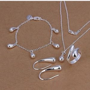 4pcs 925 Sterling Silver Jewelry Set for Sale in Orlando, FL