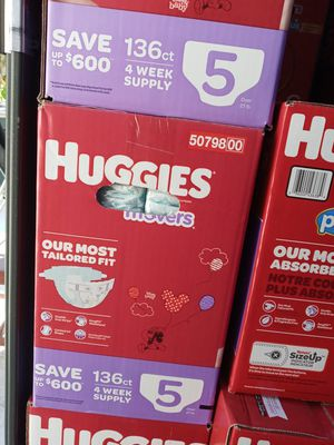 Huggies little movers size 5/136 counts/$45 a box for Sale in Gardena, CA