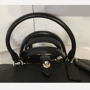 Authentic Black Pebbled Leather Medium Coach Purse for Sale in Clifton Heights, PA