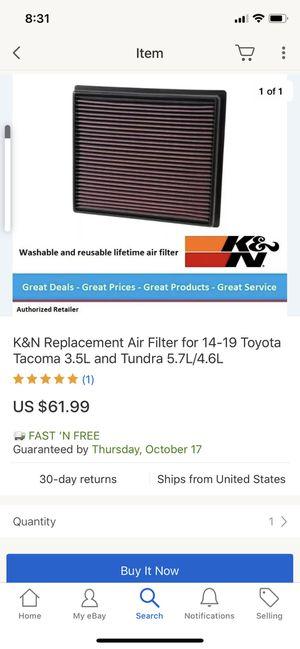 TOYOTA K&N FILTER for Sale in North Las Vegas, NV