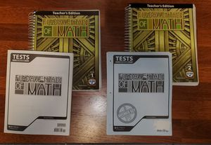 Fundamentals of Math BJU Press Teacher's Edition for Sale in Vancouver, WA