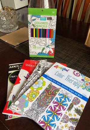 Coloring book & color pencils for Sale in Miami, FL
