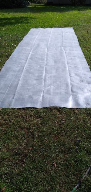 20ft x 6 1/2ft piece of 1/8 in thick rubber for roof or yard pond for Sale in Wake Forest, NC