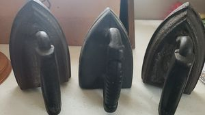 3 cast iron irons for Sale in Spartanburg, SC