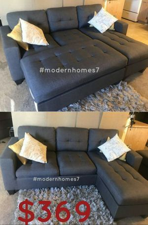 """Grey reversible sectional sofa with ottoman convertible sleeper couch 81x60 """" for Sale in Anaheim, CA"""