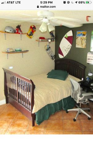 Full-Size Bed Frame (Italian Cherry Wood) for Sale in VLG WELLINGTN, FL
