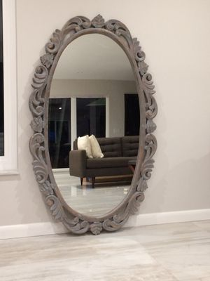 Large Wood Wall Mirror for Sale in Hollywood, FL