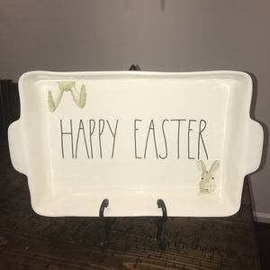 Rae Dunn LL Happy Easter Bunny large casserole baking dish for Sale in Sterling, VA