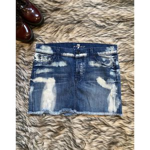 7 For All Mankind Bleached Mini Denim Skirt (Size 27) for Sale in Colton, CA