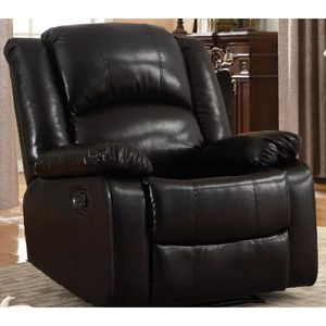 Bonded Black Leather Glider Recliner for Sale in Rowland Heights, CA