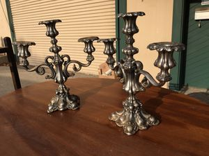 Pair of silvered bronze candelabras for Sale in Whittier, CA