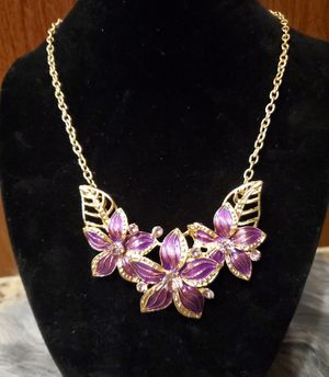 Purple Lily Statement Necklace & Earrings for Sale in Hanford, CA