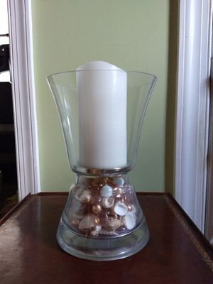 Pier One Seashell Centerpiece with Flameless White Candle for Sale in Portsmouth, VA