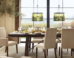 Pottery Barn- Benchwright Extending Large Table + (4) PB chairs and (2) PB Arm chairs for Sale in Walnut Creek, CA